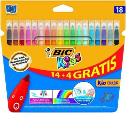 Flamaster Bic Kids Kid Couleur 14+4 18 kol. (841802)