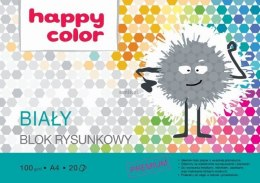 Blok rysunkowy Happy Color A4 biały 100g 20k 210 mm x 297 mm (HA37102030-0)