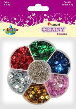 Cekiny Titanum Craft-fun Cekiny mix 7 g (7HPB)