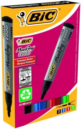Marker permanentny Bic Marking 2000 komplet 4 szt, mix 1,5 mm (8209112)